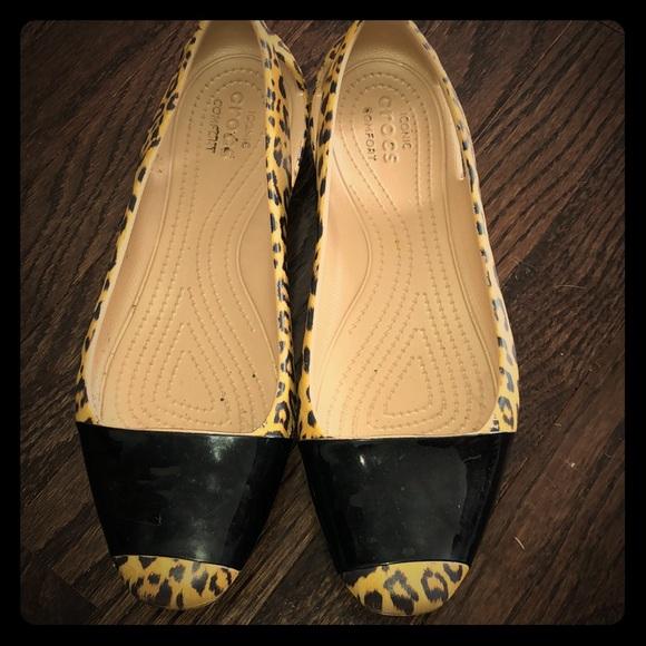 CROCS Shoes - Leopard Print Crocs Women's Slip Ons